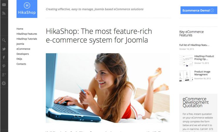 HikaShop Information Site