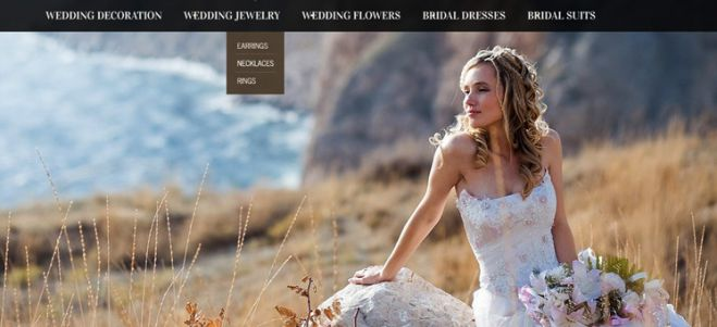 Website design ideas for bridal and wedding companies